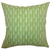 The Pillow Collection Dale Floral Pillow, Green