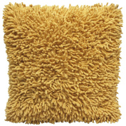 Shagadelic 46cm Yellow Chenille Twist Shag Pillow