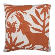 thomaspaul Linen/Cotton Otomi Pillow, 60cm by 60cm , Alcazar