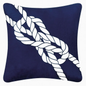 C & F Enterprises Knotty Buoy Square Navy Knot Pillow