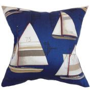 The Pillow Collection Hemavan Nautical Pillow, Regatta