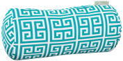Majestic Home Goods Pacific Towers Round Bolster Pillow, Turquoise