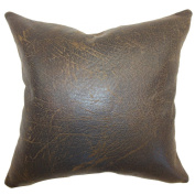 The Pillow Collection Jazzy Plain Pillow, Chocolate