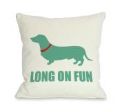 Bentin Pet Decor Dachshund Long on Fun Throw Pillow