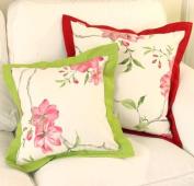 Decorative Spring Gardon Floral Throw Pillow Cover