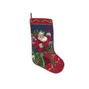 Midnight Sleigh Ride Needlepoint Christmas Stocking
