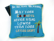 Island Blessing Embroidered Throw Pillow