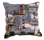 43cm North Carolina Lighthouses Tapestry Throw Pillow