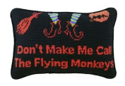 Halloween Wizard of Oz Pillow Wicked Witch & Flying Monkeys, Wool, Needlepoint, 20cm X 30cm , Funny