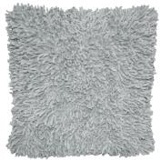 Shagadelic 46cm Grey Chenille Twist Shag Pillow