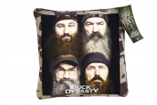 Duck Dynasty's 4 Faces Camo Border Decorative Pillow