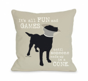 Bentin Pet Decor Its All Fun and Games Throw Pillow