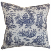 The Pillow Collection Lalibela Toile Pillow, Blue