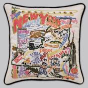 Catstudio Hand-Embroidered Pillow - New York