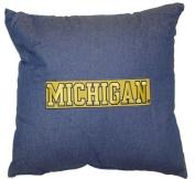 University of Michigan WOLVERINES - 46cm Denim Square Pillow