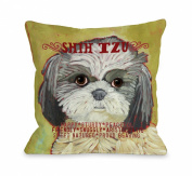 Bentin Pet Decor Shih Tzu 2 Throw Pillow, 46cm by 46cm