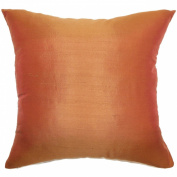 The Pillow Collection Veristi Plain Pillow, Rust