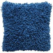 Shagadelic 46cm Blue Chenille Twist Shag Pillow