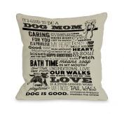 Bentin Pet Decor Proud to Be a Dog Mom Throw Pillow