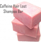 Caffeine Hair Loss Organic Shampoo Bar with Tea Tree Oil , Cold Process