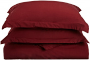 Lamma Loe's Silky Soft Solid Microfiber Luxury 3-Piece Duvet Cover Set, Includes Pillow Shams-King