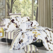 Nygard Home North Home Vintage 100-Percent Cotton 4-Piece Duvet Cover Set, King