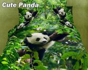 Dolce Mela DM434T Cute Panda Twin Cotton Duvet Cover Set