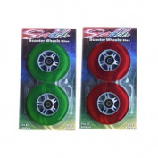 4 NEW SCOOTER WHEELS razor replacement 2 Green 2 Red