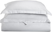 Lamma Loe's Silky Soft Solid Microfiber Luxury 3-Piece Duvet Cover Set, Includes Pillow Shams-Full/Queen, White