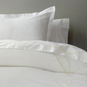 Marc Thee Home Strands Collection 350TC 100% Cotton Twill Weave Embroidered Duvet Cover