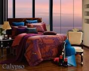 Dolce Mela DM472Q Jacquard Damask Luxury Bedding Duvet Covet Set, Queen