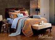Dolce Mela DM476Q Jacquard Damask Luxury Bedding Duvet Covet Set, Queen
