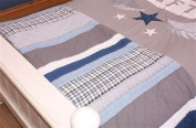 Varsity Quilt/Throw - Twin and Matching Pillowcase -