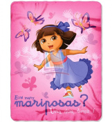 Dora the Explorer Plush Fleece Throw Blanket 120cm x 150cm Butterfly Dances
