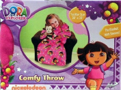 Dora the Explorer Comfy Throw Blanket with Sleeves ~ Toddler Size