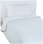 New Arrivals Twin Sprout Coverlet - Soft Aqua/ White