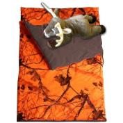 Camo Kids Realtree AP Blaze Orange Slumber Sleeping Bag & Animal Pillow