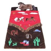 Cowboy V Fringe Western Horses Kids Slumber Sleeping Bag