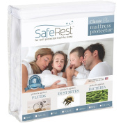 SafeRest Classic Plus Hypoallergenic 100% Waterproof Mattress Protector - Vinyl Free