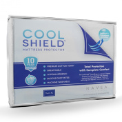 Cool Shield No Allergy Waterproof Mattress Protector - Breathable Terry Cover Protects Against Dust Mites, Allergens, Bacteria, Mould and Fluids - Size