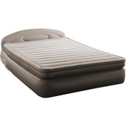 AeroBed Comfort Anywhere 46cm Air Mattress with Headboard Design Powerful Built in Ac Pump for Convenient, Super Fast Inflation