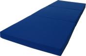 Brand New Royal Blue Shikibuton Trifold Foam Beds 7.6cm Thick X 70cm Wide X 190cm Long, 0.8kg high density resilient white foam, Floor Foam Folding Mats.