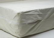 100% Cotton Fleetwood Mattress Cover, Cot Size 30 x 75, Zips around the mattress