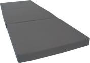 Brand New Grey Shikibuton Trifold Foam Beds 7.6cm Thick X 70cm Wide X 190cm Long, 0.8kg high density resilient white foam, Floor Foam Folding Mats.