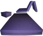 Brand New Purple Shikibuton Trifold Foam Beds 7.6cm Thick X 70cm Wide X 190cm Long, 0.8kg high density resilient white foam, Floor Foam Folding Mats.