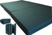 Brand New Green Shikibuton Trifold Foam Beds 7.6cm Thick X 70cm Wide X 190cm Long, 0.8kg high density resilient white foam, Floor Foam Folding Mats.