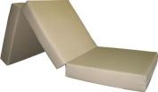 Brand New Tan Shikibuton Trifold Foam Beds 7.6cm Thick X 70cm Wide X 190cm Long, 0.8kg high density resilient white foam, Floor Foam Folding Mats.