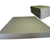 Brand New Tan Twin Size Shikibuton Trifold Foam Beds 15cm Thick x 100cm W x 190cm L Long, 0.8kg high density resilient white foam, Floor Foam Folding Mats.