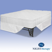 Night Therapy 30cm Euro Box Top Spring Mattress & Bed Frame Set - Queen