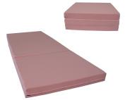 Brand New Pink Shikibuton Trifold Foam Beds 7.6cm Thick X 70cm Wide X 190cm Long, 0.8kg High Density Resilient White Foam, Floor Foam Folding Mats.